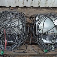 2 stk. pladslamper, Raggio 2 / 2 st. byggplats lampor