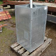 Pillesilo til stokerfyr inklusive snegltransportør. Ubrugt /  pelletssilo,skruvtransportör inkluderad,oanvänt
