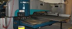 Pullmax 5000 med pladeryster /  Pullmax 5000 med in och utmatning. och Hesta Shaker