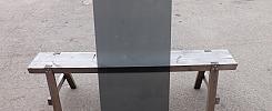 Härdat rökfärgat glas, 4 mm, 101x48,5 cm, 100 st
