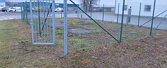 2st galvanized gates and x number of meters fence