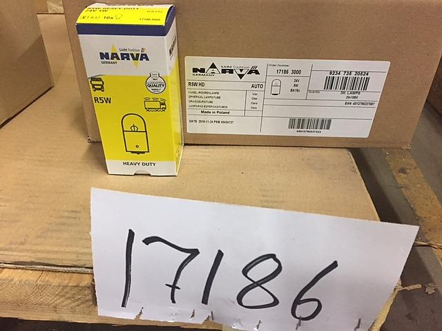 Stort parti glödlampor för fordon NARVA, Au-Lite