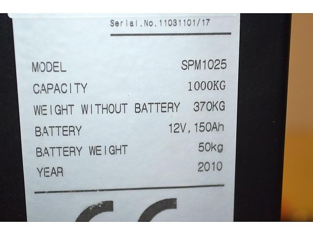 Elstabler, 1000 kg. Årgang 2010, Cheuklift, type SPM1025